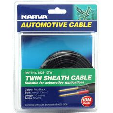 Narva Automotive Cable Twin Sheath 10 Metres 3mm 10 AMP, , scaau_hi-res