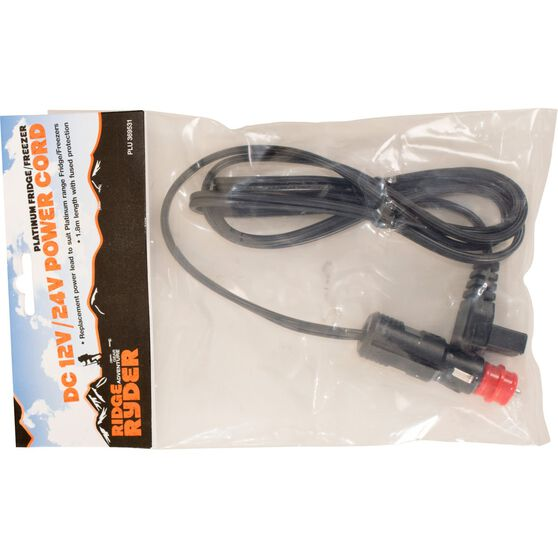Ridge Ryder by Evakool Fridge Freezer Power Lead - 12 Volt / 24 Volt, , scaau_hi-res