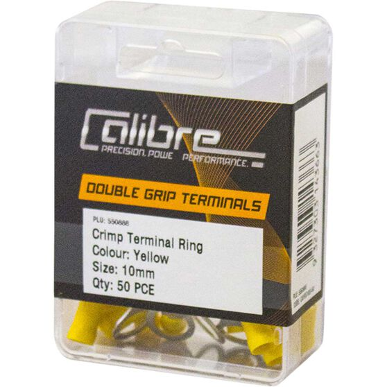 Crimp Terminal Ring Yellow 10Mm - 50 Pack, , scaau_hi-res