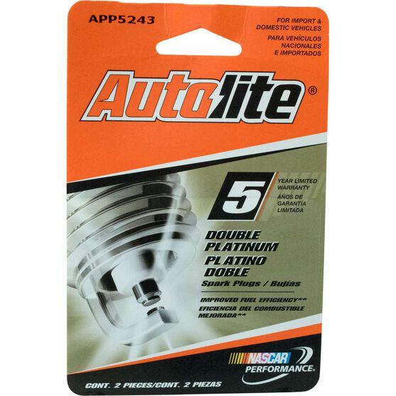 Autolite Double Platinum Spark Plug - APP5243DP2, 2 Pack, , scaau_hi-res