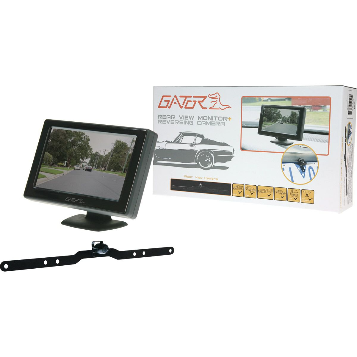 how to install a reverse cameragator reversing camera kit wired, 4 3inch, g427, , scaau_hi res