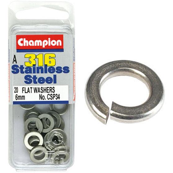 Champion Flat Washers - 6mm 6mm, , scaau_hi-res
