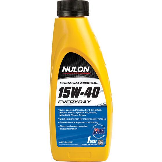 Nulon Premium Mineral Everyday Engine Oil - 15W-40, 1 Litre, , scaau_hi-res