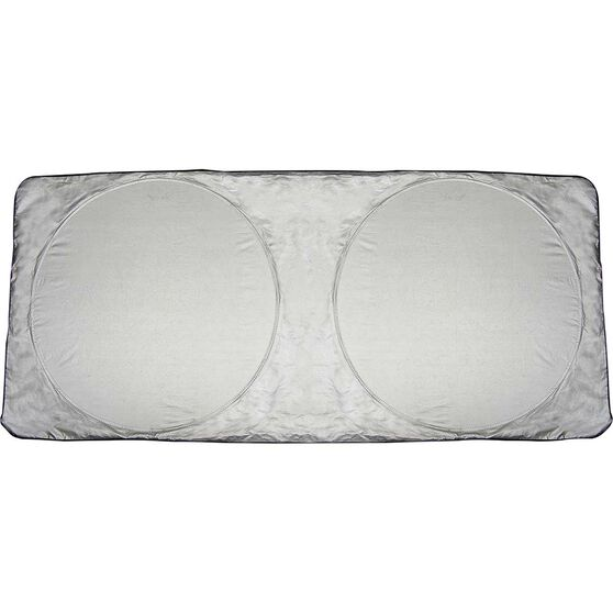 SCA Twin Circle Sunshade - Silver, Spring, Front, , scaau_hi-res