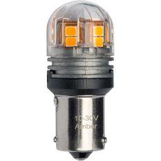 JW Speaker LED Globe - Bayonet, 12V, Amber, BAU15s, , scaau_hi-res