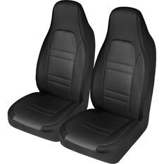 SCA Racing Seat Cover - Front Pair - Black / Grey, , scaau_hi-res