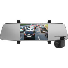 "Nanocam+ NCP-MIRDVR552 5.5"" Mirror Mounted Front & Rear Dash Camera Kit, , scaau_hi-res"