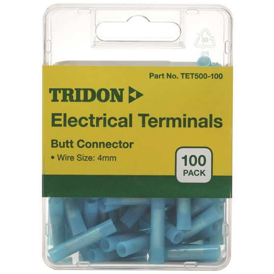 Tridon Electrical Terminals - Butt Connector, Blue, 100 Pack, , scaau_hi-res