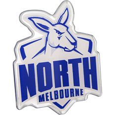 North Melbourne AFL Supporter Logo - Lensed Chrome Finish, , scaau_hi-res
