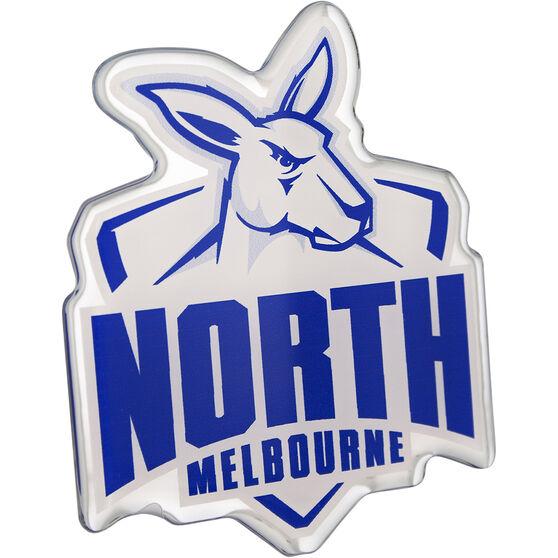 North Melbourne AFL Supporter Logo - Lensed Chrome Finish, , scaau_hi-res