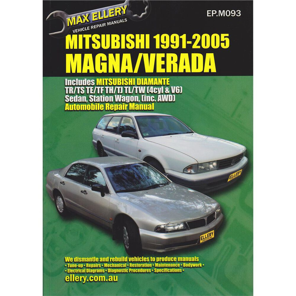 Ellery Car Manual For Mitsubishi Magna / Verada 1991-2005 - EP.M093 |  Supercheap Auto