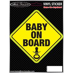 Hot Stuff Sticker - Baby on Board, Vinyl, , scaau_hi-res