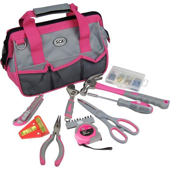 SCA Tool Bag Kit 20 Piece Pink, , scaau_hi-res