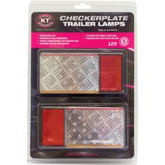 KT Cables - Trailer Lamps, Checker Plate, 160 x 80, , scaau_hi-res