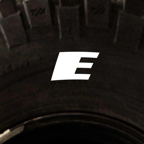 Tire Stickers - Letter E, , scaau_hi-res