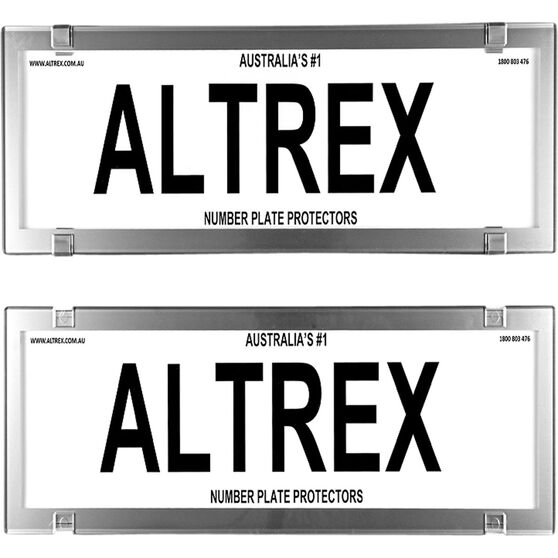 Altrex Number Plate Protector 6 Figure Chrome Dual Slimline No Lines 6VCC, , scaau_hi-res
