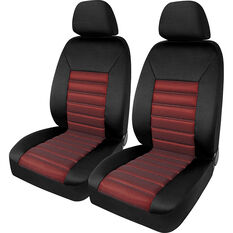 SCA Memory Foam Seat Cover - Red Adjustable Headrests Front Pair Size 30, , scaau_hi-res