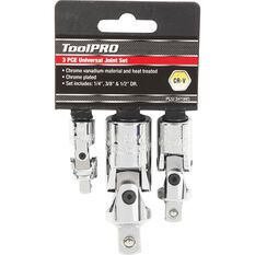 """ToolPRO Universal Joint Set 1/4"""" 3/8"""" & 1/2"""" Drive, , scaau_hi-res"""