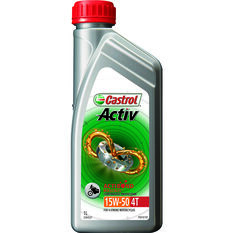Castrol Activ 4T Motorcycle Oil - 15W-50, 1 Litre, , scaau_hi-res