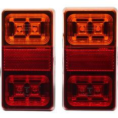 Trailer Lamp LED 12V Rectangular 2 Pack, , scaau_hi-res