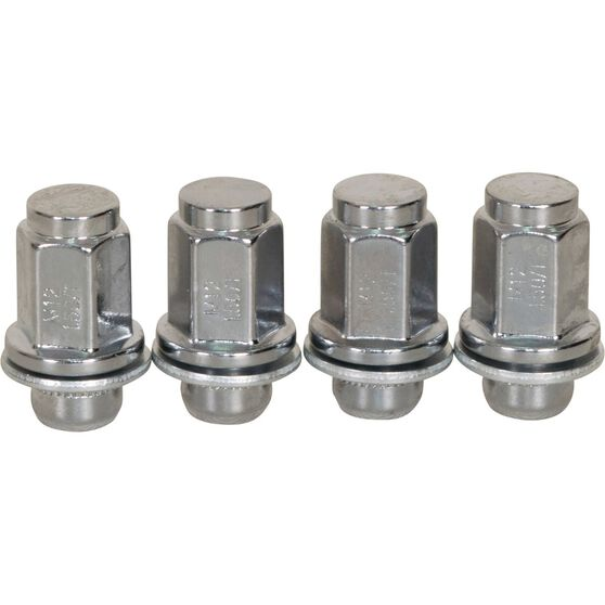 Calibre Wheel Nuts, Shank, Chrome, For Various Toyota - MN12150TOY, 12mm x 1.5mm, , scaau_hi-res