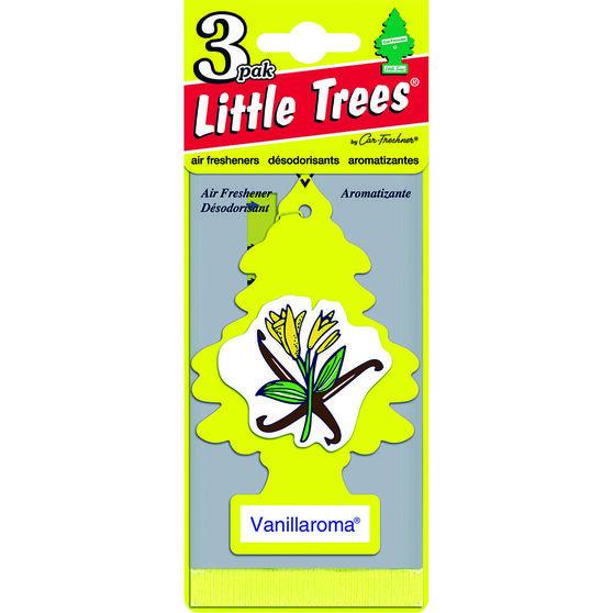 Little Trees Air Freshener - Vanillaroma, 3 Pack, , scaau_hi-res