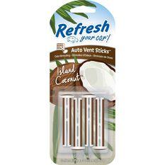 Refresh Air Freshener Vent Stick - Island Coconut, , scaau_hi-res