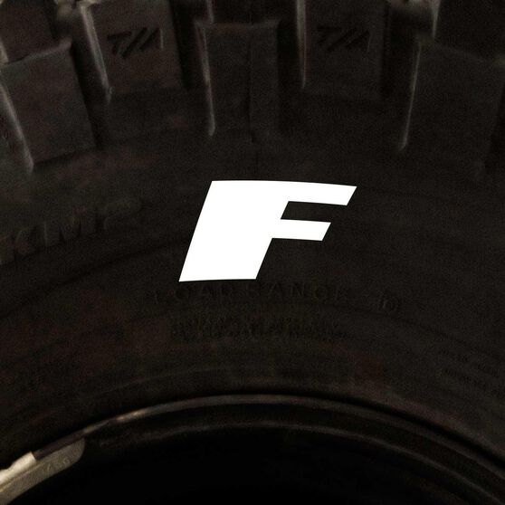 Tire Stickers - Letter F, , scaau_hi-res