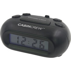 Cabin Crew Digital Alarm Clock - Black, , scaau_hi-res