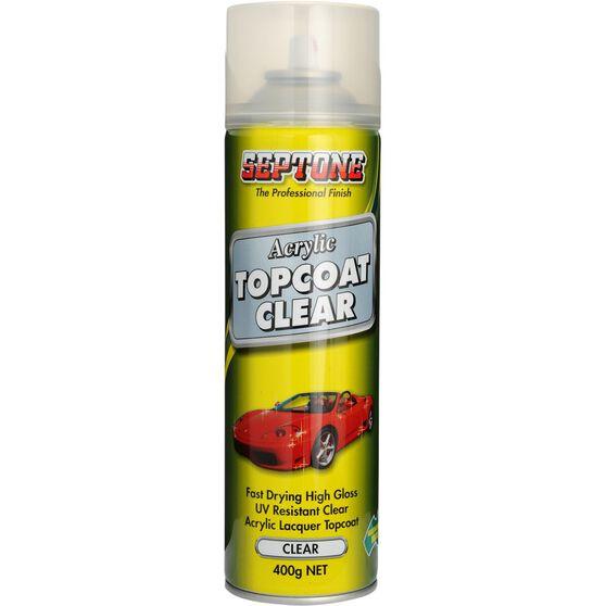 Septone Acrylic Aerosol Paint - Clear Topcoat, 400g, , scaau_hi-res