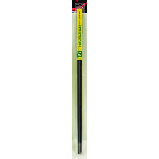 Tridon Wiper Refills - Plastic Back, Dual, Suits 6.5mm and 7.5mm, 2 Pack, , scaau_hi-res
