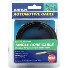 Narva Automotive Cable Single Core 10 Metres 4mm 15 AMP Black, , scaau_hi-res