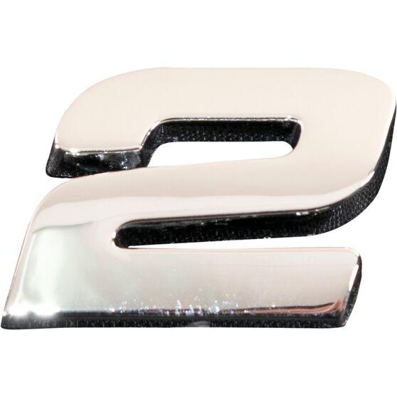 SCA 3D Chrome Badge Number 2, , scaau_hi-res