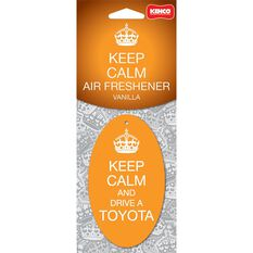 Kenco Keep Calm and Drive a Toyota Carded Air Freshener, , scaau_hi-res