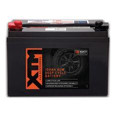 XTM Deep Cycle AGM Battery DC12-100AGM, , scaau_hi-res