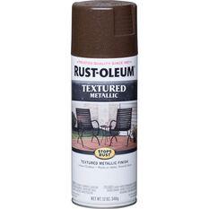Rust-Oleum Aerosol Paint Textured Metallic - Mystic Brown, 340g, , scaau_hi-res