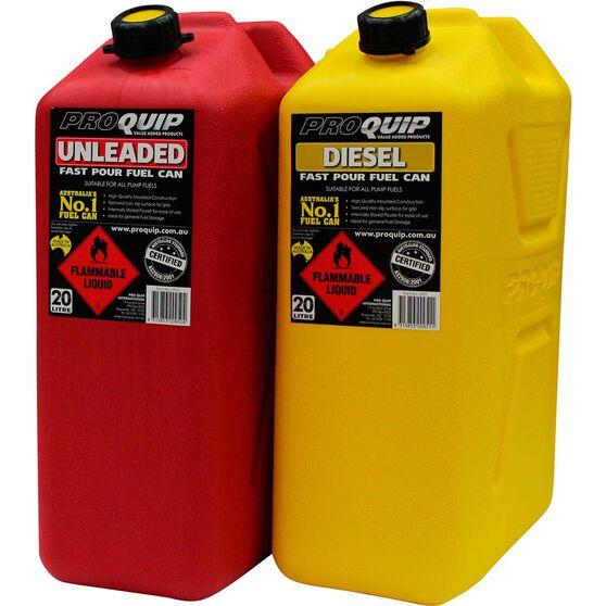 Pro Quip 20L Plastic Diesel Jerry Can, , scaau_hi-res