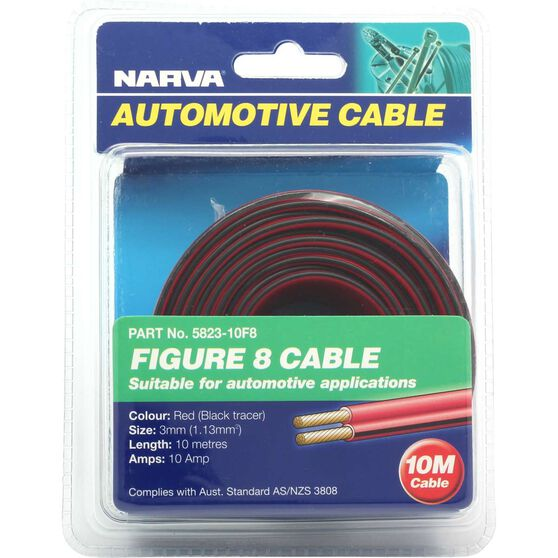 Narva Automotive Cable - Figure 8, 10 Metres, 3mm, 10 AMP, , scaau_hi-res
