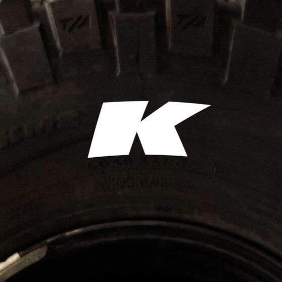 Tire Stickers - Letter K, , scaau_hi-res