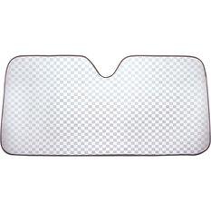 Silver Checkerplate Sunshade, , scaau_hi-res