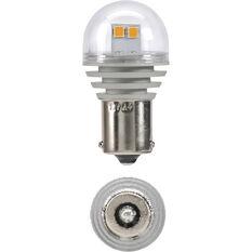 LED Globe - Bayonet, 12V, Amber, BAU15S, , scaau_hi-res