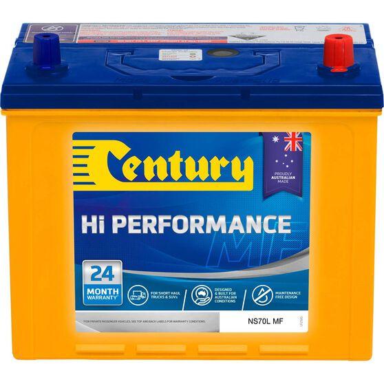 Century Hi Performance 4WD Battery NS70L MF, , scaau_hi-res
