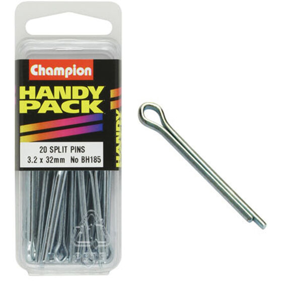Champion Split Pins - 3.2mm X 32mm, BH185, Handy Pack, , scaau_hi-res