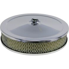 SAAS Chrome Air Filter Assembly - 9 inch x 2 inch, SF92H, , scaau_hi-res