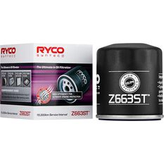 Ryco Syntec Oil Filter Z663ST (Interchangeable with Z663), , scaau_hi-res