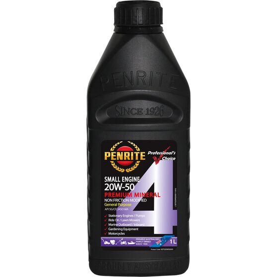 Penrite Small Engine 4 Stroke Engine Oil - 20W-50, 1 Litre, , scaau_hi-res
