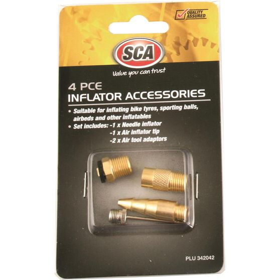 SCA Inflator Air Adaptors - 4 Piece, , scaau_hi-res