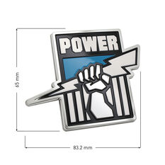 Port Adelaide AFL Supporter Logo - 3D Chrome Finish, , scaau_hi-res