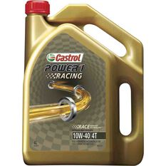 Castrol Power 1 Racing Motorcycle Oil, 4 Stroke - 10W-40, 4 Litre, , scaau_hi-res