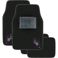 Peach Blossom Car Floor Mats - Carpet, Purple, Set of 4, , scaau_hi-res